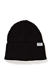 Corman knitted beanie black - black