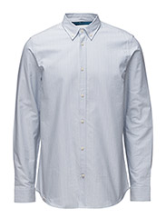 Mailer l/s shirt relaxed fi - AQUAMARINE