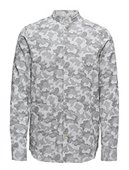 Spring camo shirt l/s shirt relaxed fi - ASPHALT