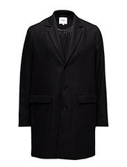 Rock wool coat - BLACK