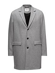 Rock wool coat - GREY MELANGE