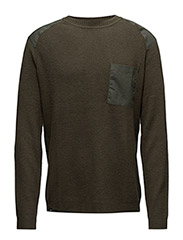 Aero men's knitted sweate - FOREST GREEN