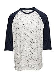 Balint s/s t-shirt, 3/4 sle - WINTER WHITE