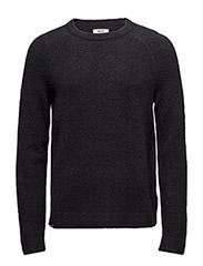 Aaron L/s knit - BLACK