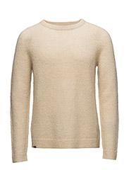 Aaron L/s knit - LUNAR ROCK