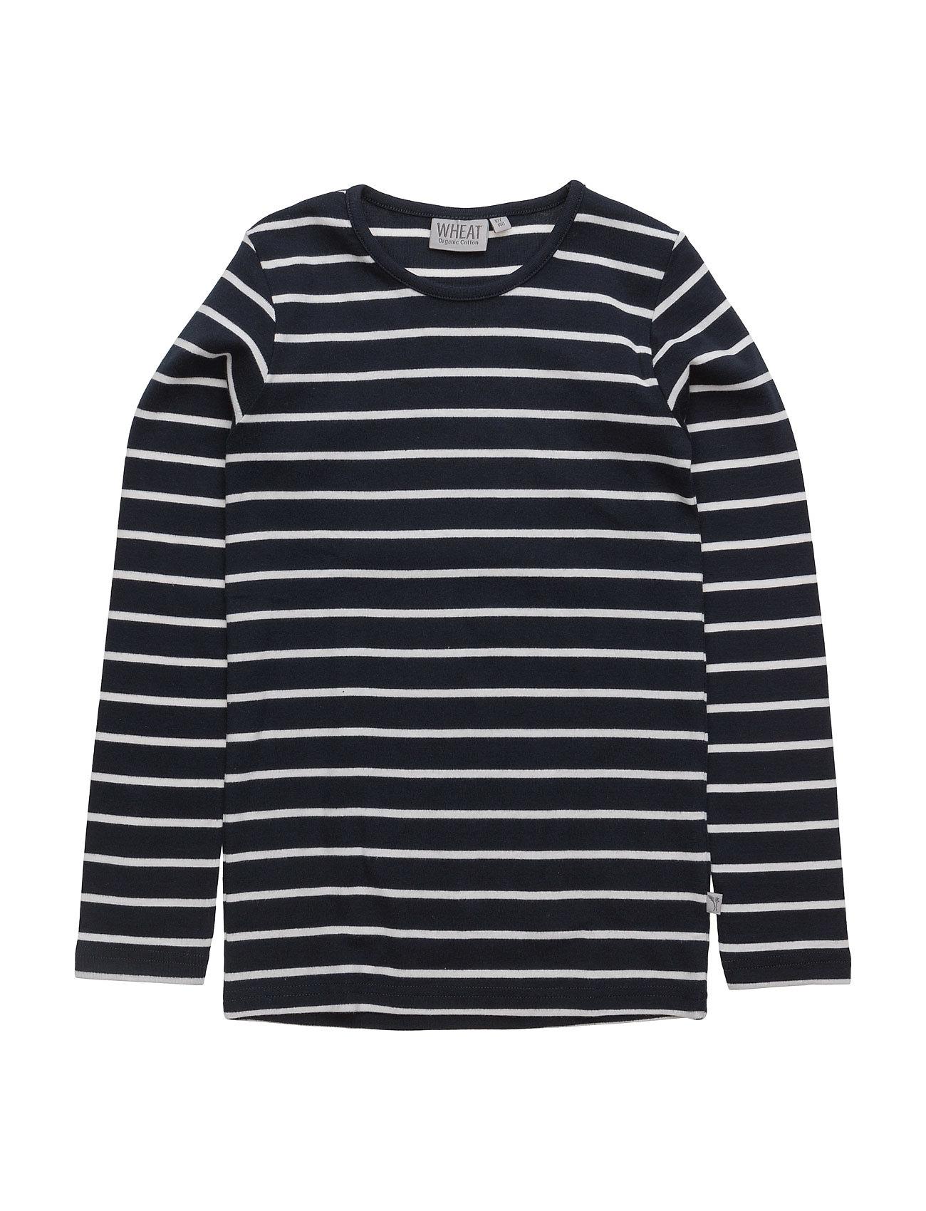 T-Shirt Striped Ls Wheat Langærmede t-shirts til Børn i