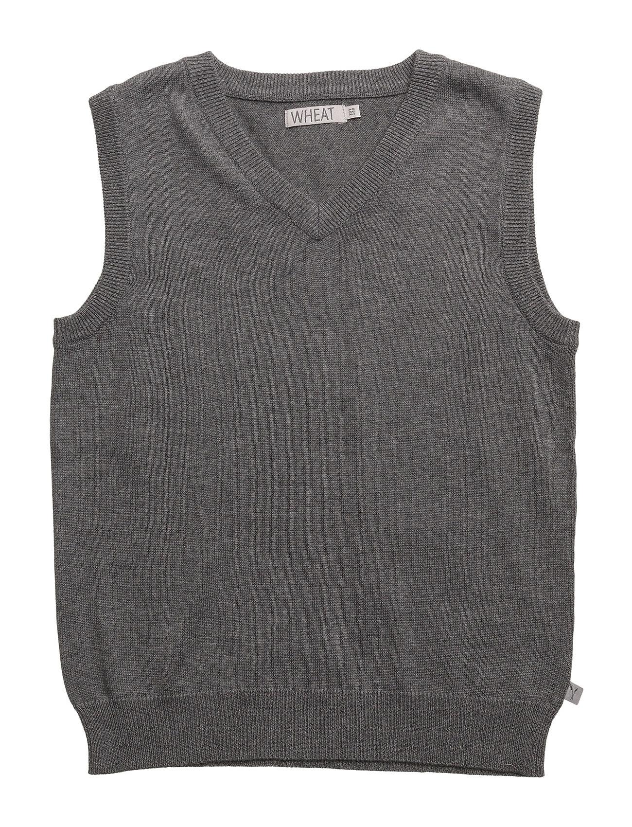 wheat – V-neck knit vest fra boozt.com dk