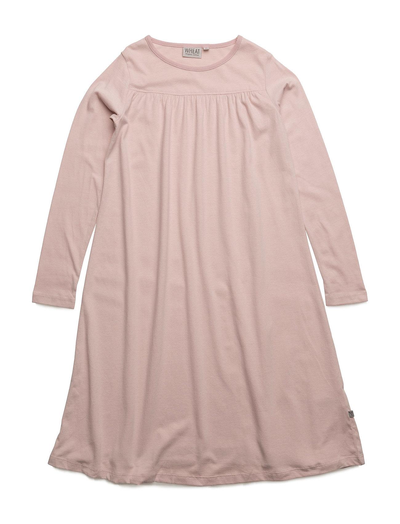 Nightgown Yoke Ls Wheat Kjoler til Børn i Mørk Rose