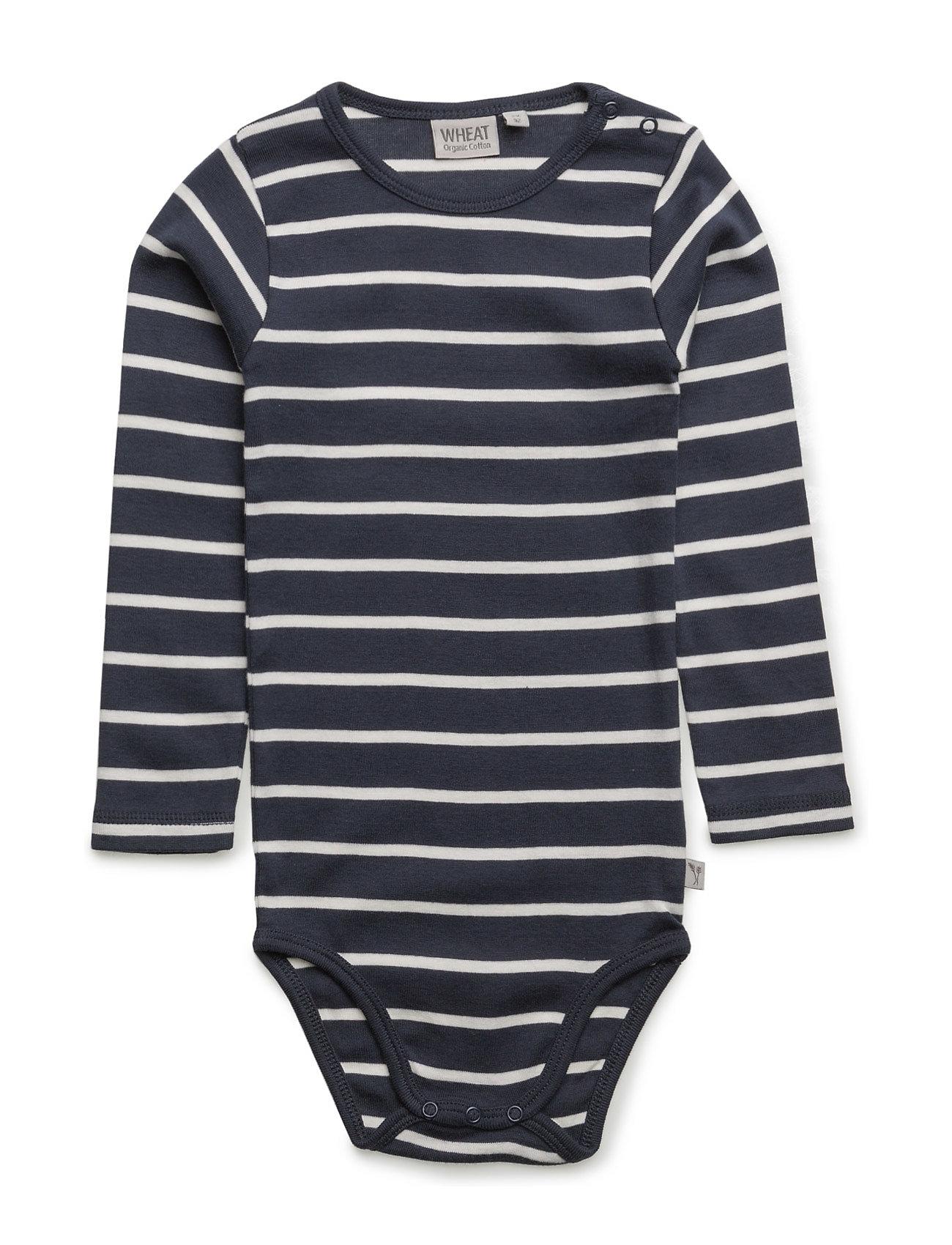 Body Plain Ls Wheat Langærmede bodies til Børn i Navy blå