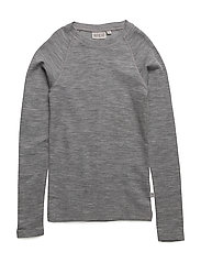 Wool T-Shirt LS - MELANGE GREY