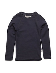 Wool T-Shirt LS - NAVY