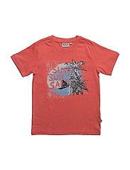 T-Shirt Surf Sun SS - SPICED CORAL