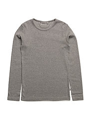 Basic Boy T-Shirt LS - MELANGE GREY