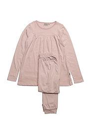Pajamas Yoke LS - DARK ROSE