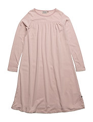 Nightgown Yoke LS - DARK ROSE