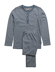Boy Pajamas Rib LS - DUSTY BLUE