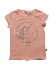 T-Shirt Unicorn SS - CORAL PINK