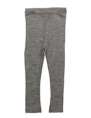 Wool Leggings - MELANGE GREY
