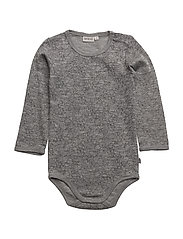 Body Plain Wool LS - MELANGE GREY