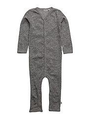 Plain Wool Jumpsuit - MELANGE GREY