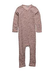 Plain Wool Jumpsuit Frill - FAWN