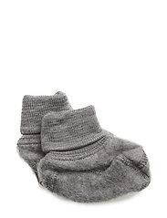 Felted Wool Booties - MELANGE GREY