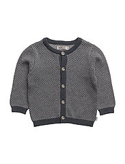 Knit Cardigan Kasper - GREYBLUE