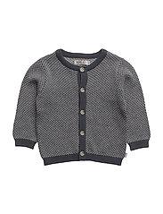 Knit Cardigan Kasper - GREYBLUE