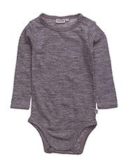 Body Plain Wool LS - MELANGEGREY