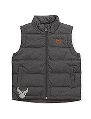 Down Vest Ras - MELANGE GREY