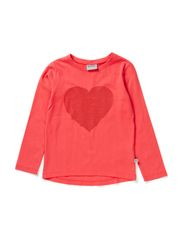 T-Shirt Heart - coral