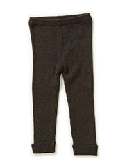 Rib Knit Pants - melangebrown