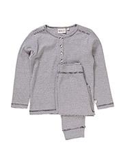 Boy Pajamas Rib - navy