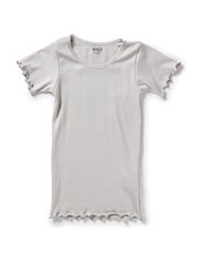 Wheat Rib T-Shirt Lace SS