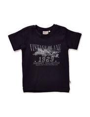T-Shirt Vintage Plane SS - darkblue