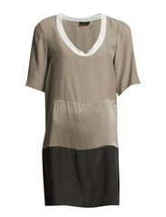 Kamile Dress - Light Taupe Grey