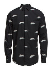 GRANBY REPEAT CLOUD PRINT - BLACK CLOUDS