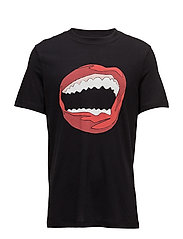 ART HEAVY MOUTH PRINT - BLACK