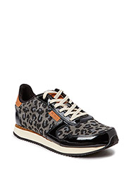 Ydun Leather - 028 Black/leopard patent