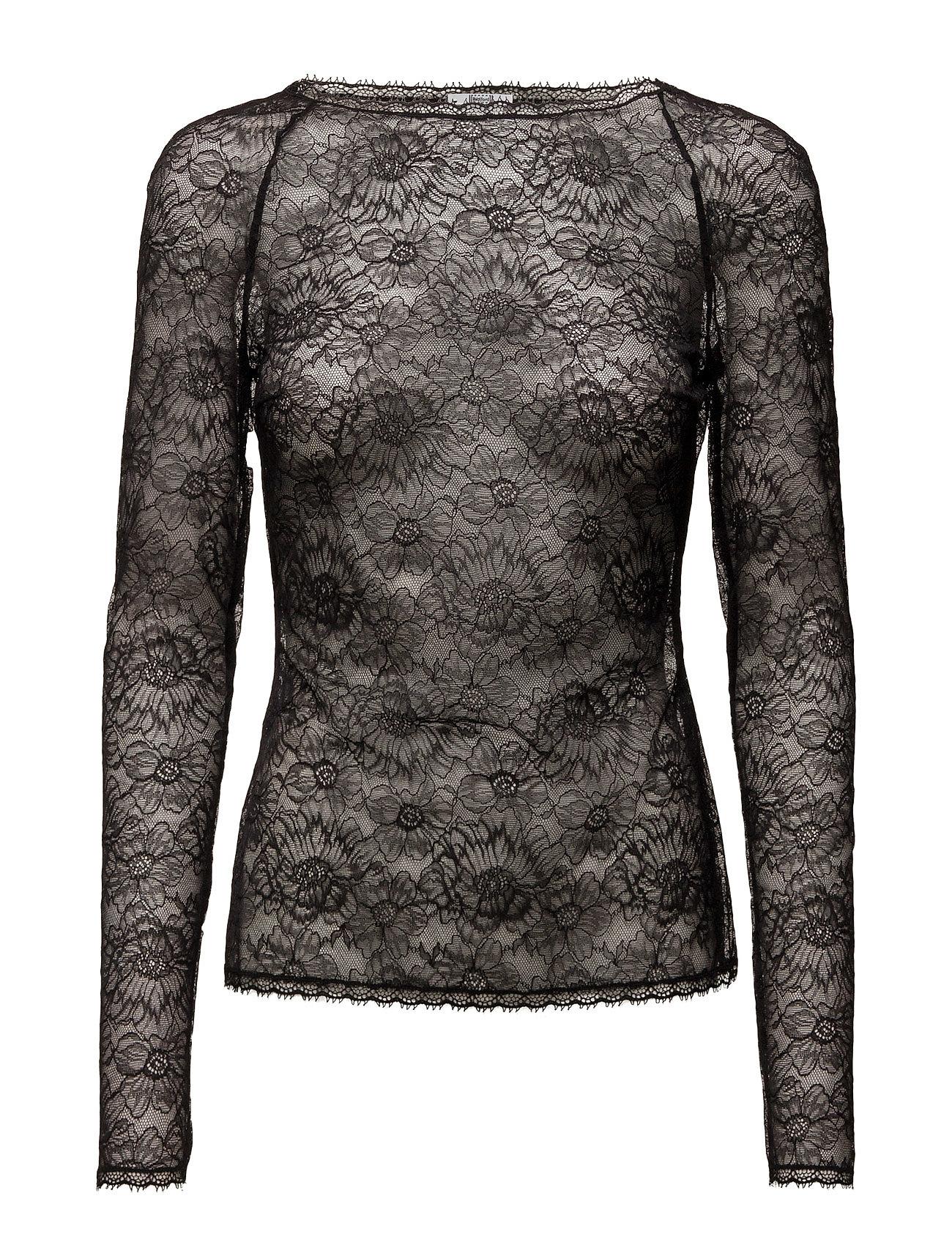 Stretch Lace Pullover Wolford Langærmede til Damer i Sort