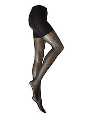 Dots Control Top Tights - BLACK