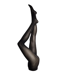 Superfine Cotton Rib Tights - BLACK