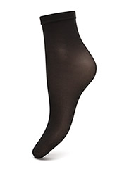 Satin Touch 20 Socks - BLACK