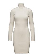 Merino Rib Dress - ECRUE