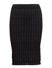 Stripes Skirt - BLACK/GREY