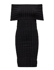 Stripes Dress - BLACK/GREY