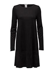 Fine Wolljersey Dress - BLACK
