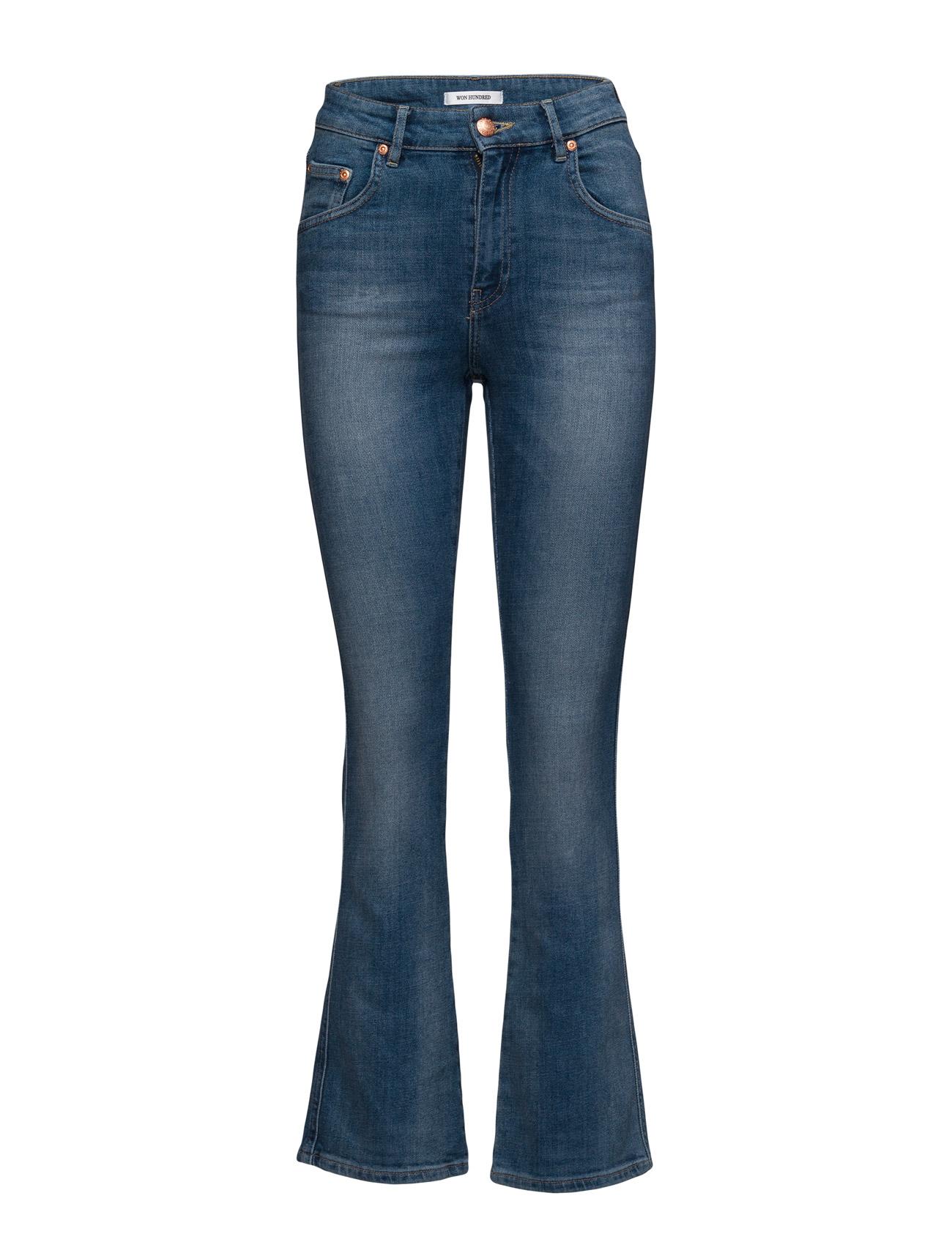 Zoey_a_medium Vintage Won Hundred Boot Cut til Kvinder i Medium Blå