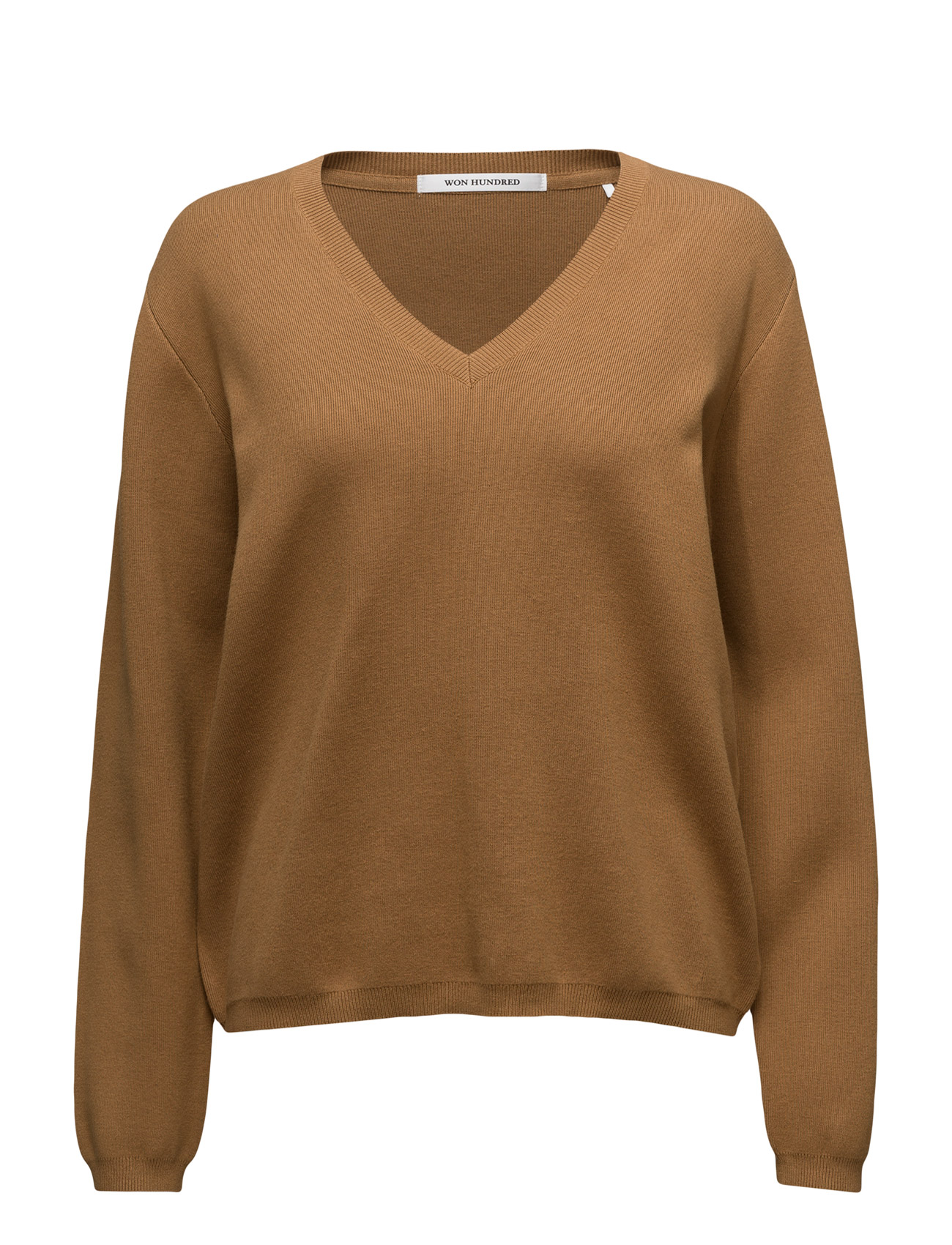 Pernille_2 Won Hundred Sweatshirts til Kvinder i Bone Brown