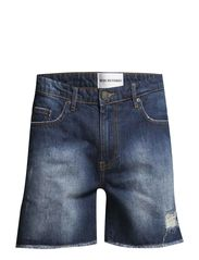 Dean_B_short_raw edge_med blue - Medium Blue